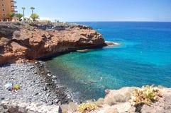 Όμορφη παραλία σε Playa Paraiso ν Tenerife Στοκ φωτογραφία με δικαίωμα ελεύθερης χρήσης