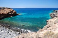 Όμορφη παραλία σε Playa Paraiso ν Tenerife Στοκ Φωτογραφία