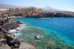Όμορφη παραλία σε Playa Paraiso ν Tenerife Στοκ εικόνες με δικαίωμα ελεύθερης χρήσης