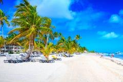 Όμορφη παραλία σε Punta Cana Στοκ Εικόνες