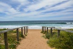 Όμορφη παραλία στις βόρειες παραλίες γύρω από το Σίδνεϊ, Αυστραλία Στοκ φωτογραφίες με δικαίωμα ελεύθερης χρήσης