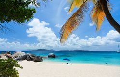 Όμορφη παραλία στις Καραϊβικές Θάλασσες Στοκ Φωτογραφίες