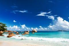 Όμορφη παραλία στις Σεϋχέλλες Στοκ Εικόνες