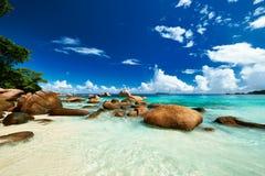 Όμορφη παραλία στις Σεϋχέλλες Στοκ Φωτογραφία