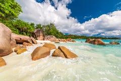 Όμορφη παραλία στις Σεϋχέλλες Στοκ εικόνες με δικαίωμα ελεύθερης χρήσης