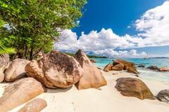 Όμορφη παραλία στις Σεϋχέλλες Στοκ Εικόνα