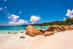 Όμορφη παραλία στις Σεϋχέλλες Στοκ φωτογραφία με δικαίωμα ελεύθερης χρήσης