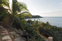 Όμορφη παραλία στον κόλπο παπιών στο Ειρηνικό Ωκεανό στη Κόστα Ρίκα Στοκ φωτογραφία με δικαίωμα ελεύθερης χρήσης