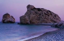 Όμορφη παραλία, τόπος γεννήσεως Aphrodite Στοκ φωτογραφία με δικαίωμα ελεύθερης χρήσης