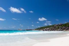 Όμορφη παραλία Anse Λάτσιο Στοκ φωτογραφία με δικαίωμα ελεύθερης χρήσης