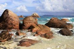 Όμορφη παραλία Anse Λάτσιο Στοκ φωτογραφίες με δικαίωμα ελεύθερης χρήσης