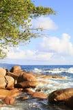 Όμορφη παραλία Anse Λάτσιο Στοκ Φωτογραφία