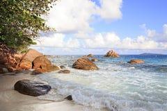 Όμορφη παραλία Anse Λάτσιο Στοκ Φωτογραφίες