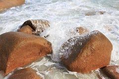 Όμορφη παραλία Anse Λάτσιο Στοκ εικόνες με δικαίωμα ελεύθερης χρήσης