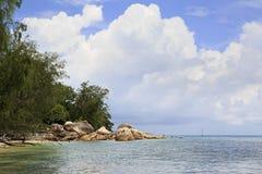 Όμορφη παραλία Anse Boudin Στοκ Εικόνες