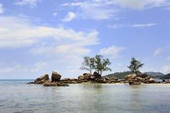 Όμορφη παραλία Anse Boudin Στοκ εικόνες με δικαίωμα ελεύθερης χρήσης