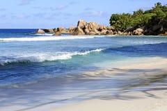 Όμορφη παραλία Anse Cocos Στοκ Φωτογραφία
