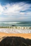 Όμορφη παραλία blacksand στην Ινδία Στοκ Φωτογραφίες