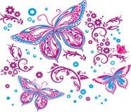 Όμορφη πεταλούδα - σχέδιο μπλουζών διανυσματική απεικόνιση