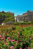 Όμορφη πηγή σε Plaza Catalunya Στοκ Εικόνες
