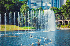 Όμορφη πηγή στο κεντρικό πάρκο στη Κουάλα Λουμπούρ Μαλαισία Στοκ εικόνες με δικαίωμα ελεύθερης χρήσης