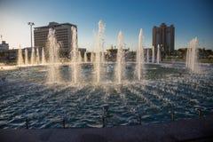 Όμορφη πηγή στο πάρκο, παλαιά πόλη της Μπουχάρα, Ουζμπεκιστάν Στοκ Εικόνες