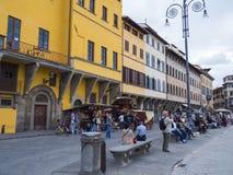 Όμορφη πλατεία Santa Croce στην πόλη της Φλωρεντίας - της ΦΛΩΡΕΝΤΙΑΣ/της ΙΤΑΛΙΑΣ - 12 Σεπτεμβρίου 2017 Στοκ φωτογραφίες με δικαίωμα ελεύθερης χρήσης