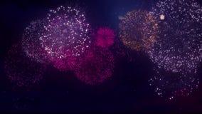 Όμορφη πολλαπλάσια έκρηξη ραβδώσεων κοχυλιών του υποβάθρου βρόχων νυχτερινού ουρανού ελεύθερη απεικόνιση δικαιώματος