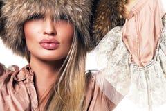 όμορφη πολυτελής γυναίκ&al Στοκ Φωτογραφία