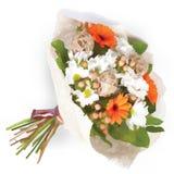 Όμορφη πορτοκαλιά ανθοδέσμη των λουλουδιών Στοκ Εικόνες