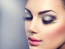 όμορφη πολυτέλεια μόδας makeup Στοκ Εικόνα