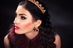 Όμορφη πολυτελής πριγκήπισσα diadem στοκ φωτογραφίες με δικαίωμα ελεύθερης χρήσης