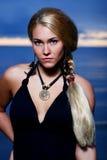 όμορφη προκλητική γυναίκα Στοκ Εικόνες