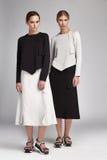 Όμορφη προκλητική γυναίκα δύο ξανθή και ίδιο φόρεμα ένδυσης τρίχας brunette Στοκ φωτογραφία με δικαίωμα ελεύθερης χρήσης