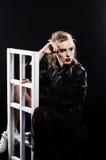 Όμορφη προκλητική ξανθή εικόνα στούντιο Στοκ φωτογραφία με δικαίωμα ελεύθερης χρήσης