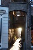 Όμορφη πρόσοψη σπιτιών σε Kampen στοκ εικόνα