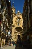 Όμορφη πρόσοψη του καθεδρικού ναού Σάντα Μαρία de San Sebastian Φύση ταξιδιού αρχιτεκτονικής στοκ εικόνες