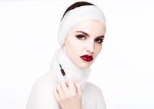 Όμορφη πρότυπη σύριγγα εκμετάλλευσης στη χειρουργική επέμβαση βραχιόνων Στοκ εικόνα με δικαίωμα ελεύθερης χρήσης
