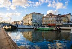 Όμορφη πόλη του Αβέιρο Πορτογαλία για τα χρώματά του και την επαγγελματική φωτογραφία πολιτισμού του που λαμβάνονται από την της  Στοκ Εικόνα