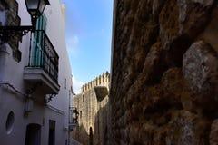 Όμορφη πόλη ol του Λα Frontera, Ισπανία Vejer de Στοκ φωτογραφία με δικαίωμα ελεύθερης χρήσης