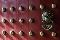 Όμορφη πόρτα παραδοσιακού κινέζικου Στοκ Εικόνες