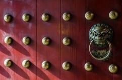 Όμορφη πόρτα παραδοσιακού κινέζικου Στοκ Φωτογραφία