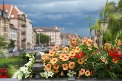 Όμορφη πόλη Στρασβούργο στην Αλσατία στη Γαλλία Στοκ Εικόνες