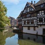 Όμορφη πόλη Στρασβούργο στην Αλσατία στη Γαλλία Στοκ Εικόνα