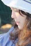 Καπέλο κοριτσιών Στοκ φωτογραφία με δικαίωμα ελεύθερης χρήσης