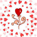 Όμορφη ρομαντική καρδιά Στοκ φωτογραφία με δικαίωμα ελεύθερης χρήσης