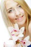 όμορφη ρόδινη γυναίκα λου&l Στοκ φωτογραφία με δικαίωμα ελεύθερης χρήσης