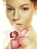 όμορφη ρόδινη γυναίκα λου&l Στοκ Εικόνες