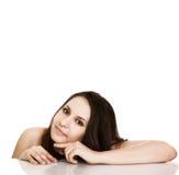 όμορφη σαφής φρέσκια portrait skin spa γ&upsil στοκ εικόνα