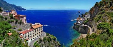 Όμορφη σειρά της Ιταλίας - Atrani Στοκ φωτογραφία με δικαίωμα ελεύθερης χρήσης